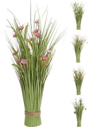 Blomsterbukett med gress