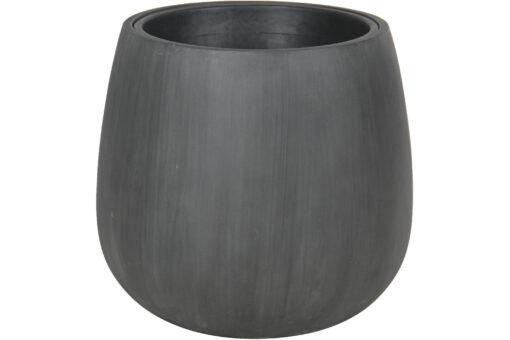 Potte fiberbetong Rund Grå plain