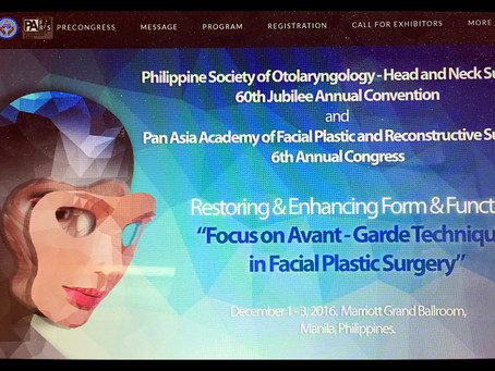 International Congress of Pan Asian Academy of Facial Plastic& Reconstructive surgery(PAAFPRS) 2016