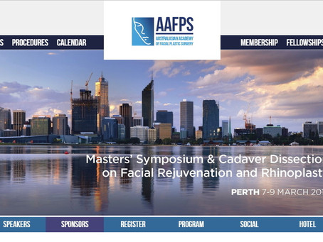 Invited as a Rhinoplasty Speaker in AAFPS 2018