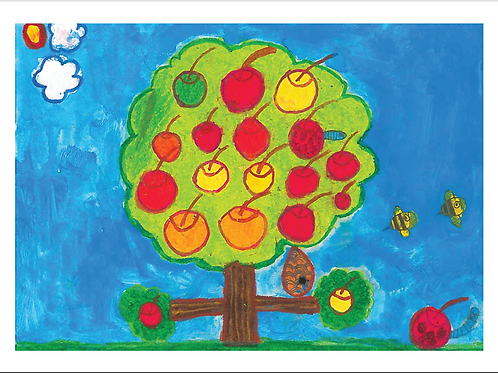 APPLE TREE THANK YOU CARDS (PACK OF 5)