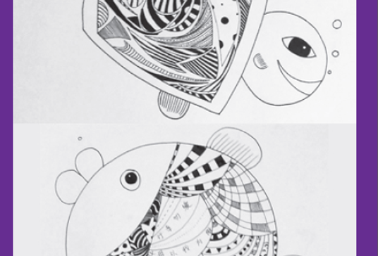 DOUBLE FISH THANK YOU CARDS (PACK OF 5)