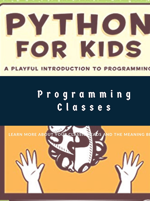 Computer Classes: Python and Drawing- 8 sessions 3 P.M. - 4 P.M.