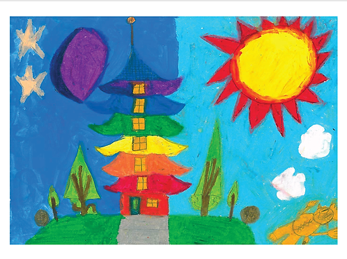 SUN MOON TOWER THANK YOU CARDS (PACK OF 5)