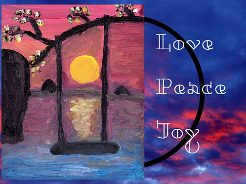 Love, Peace & Joy Cards - 5*7 five cards