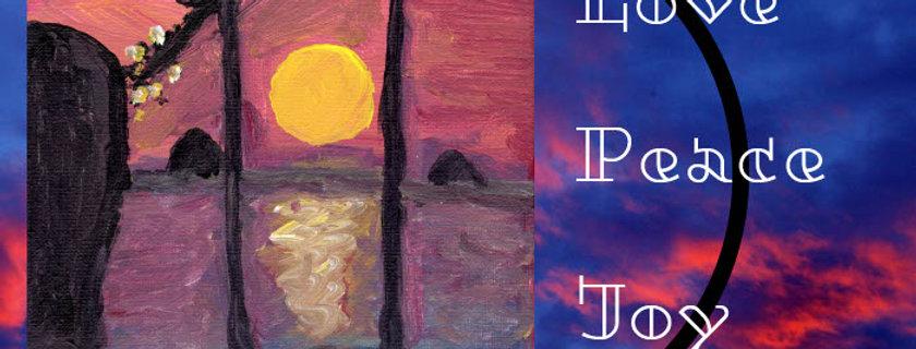 Love, Peace & Joy Cards - 5*7 five cards