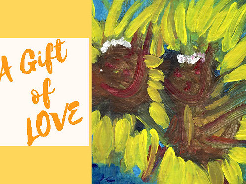 A Gift of Love Sunflowers Cards - 5*7 five cards
