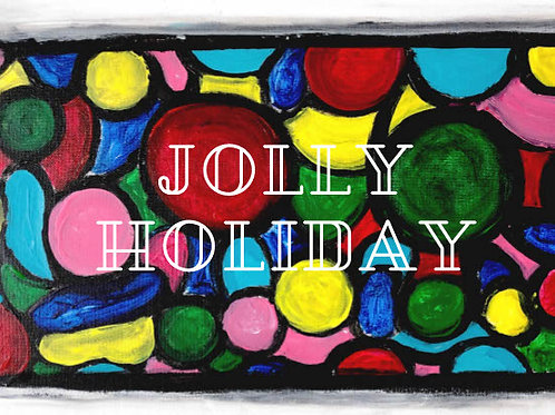 Jolly Holiday Bubble Cards - 5*7 five cards