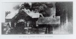 Mt. Zion Baptist Church on fire