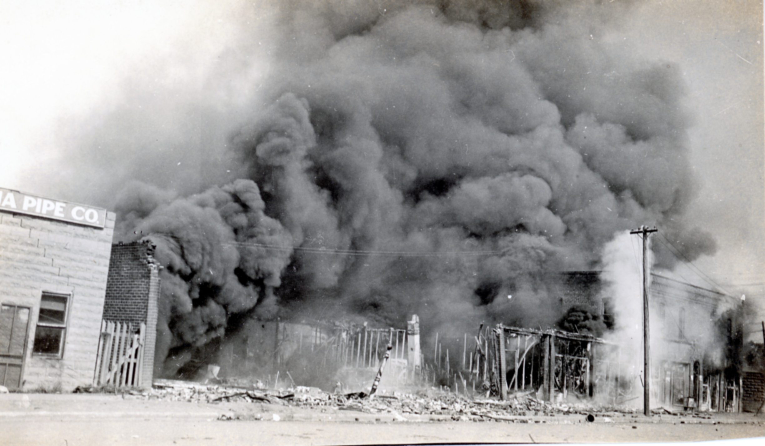 Burning Buildings, N. Tulsa's W. S.