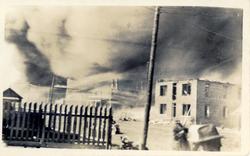 Plume of smoke covering Greenwood