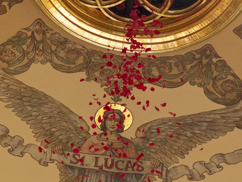 A Shower of Roses for Pentecost