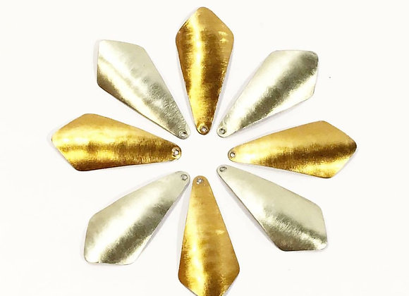 DIAMOND DROP CURVE EARRINGS