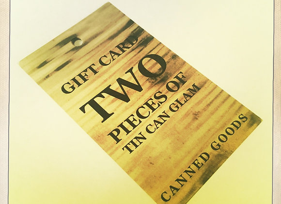 GIFT CARD - TWO PIECES