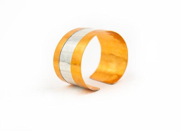 DIAGONAL STRIPE CUFF Bracelet