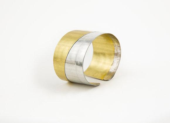 TWO-TONE ANGLE CUFF Bracelet