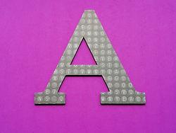 Cardstock design letter A