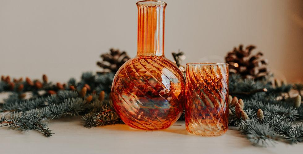 Amber Decanter Set