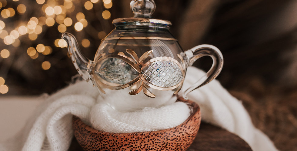 Green and Clear Teapot Bauble