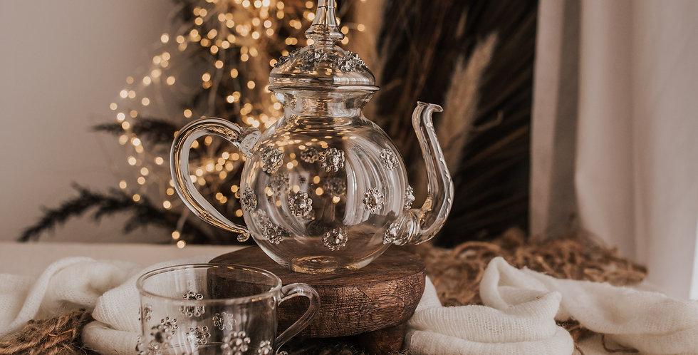 Silver Flower Tea Set