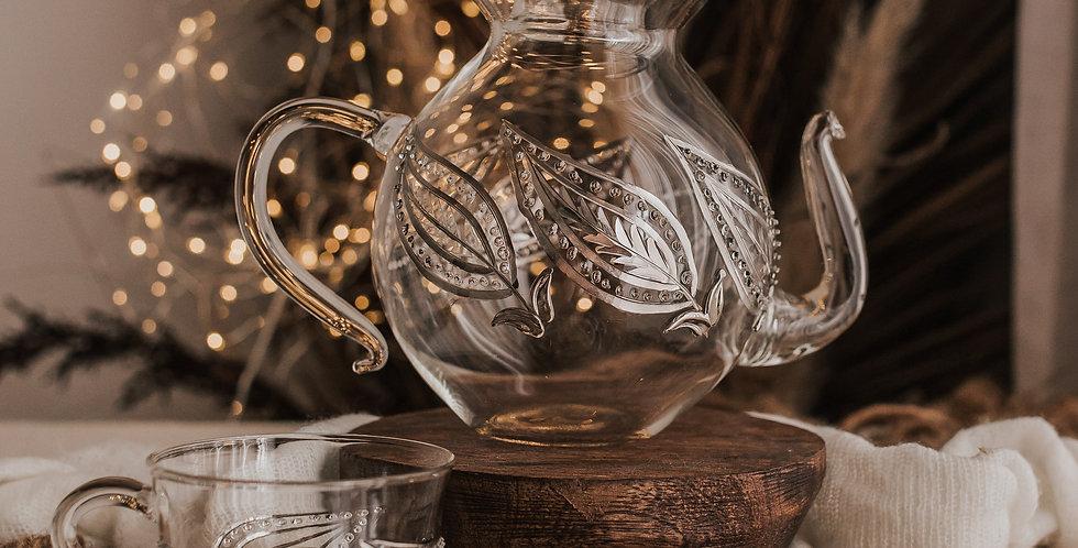 Silver Leaf Tea Set