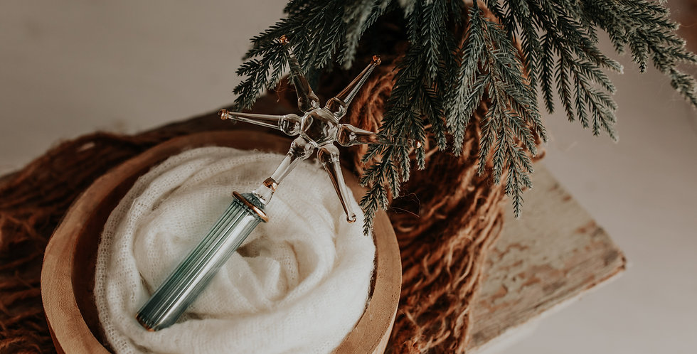 Clear and Green Star Tree Topper