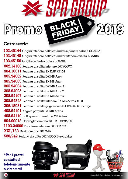 7 Promo BLACK FRIDAY 2019 Carrozzeria 7.
