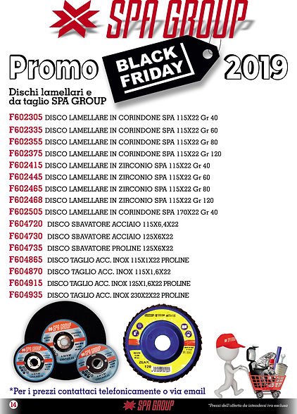 11 Promo BLACK FRIDAY 2019 Dischi lamell