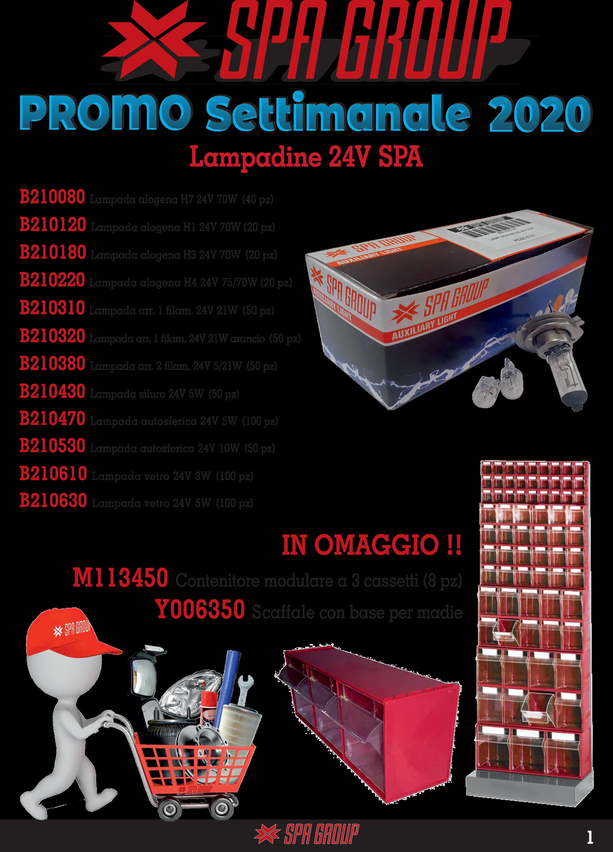 Promo Lampadine 24V SPA 2020