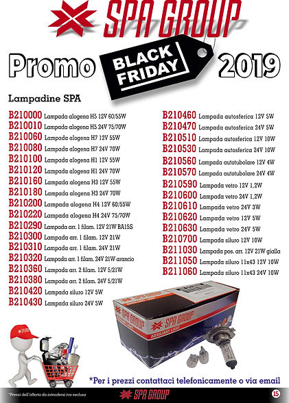 12 Promo BLACK FRIDAY 2019 Lampadine 12.