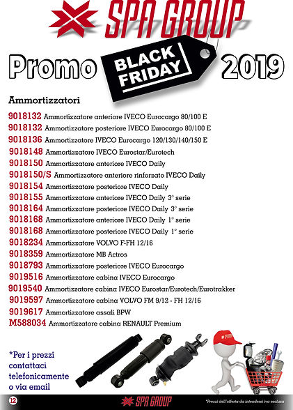 9 Promo BLACK FRIDAY 2019 Ammortizzatori