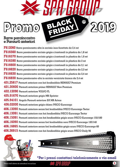 3 Promo BLACK FRIDAY 2019 Barre parainca