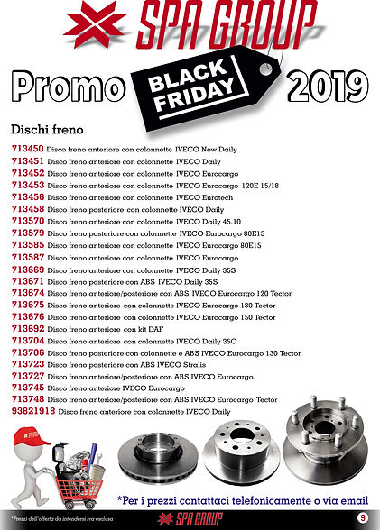6 Promo BLACK FRIDAY 2019 Dischi freno 6