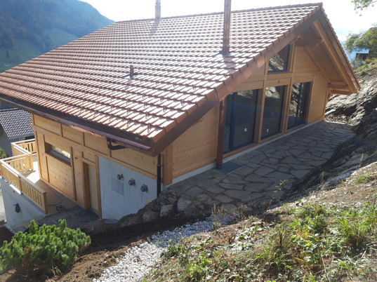 Creation terrasse en dalles naturelles Calanca