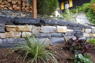 Création mur en pierre naturelle de Saint Léonard
