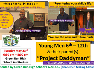 Eddie Howard among featured speakers at Project Daddyman on May 23