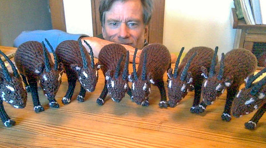 Bill Robichaud with knitted Saola