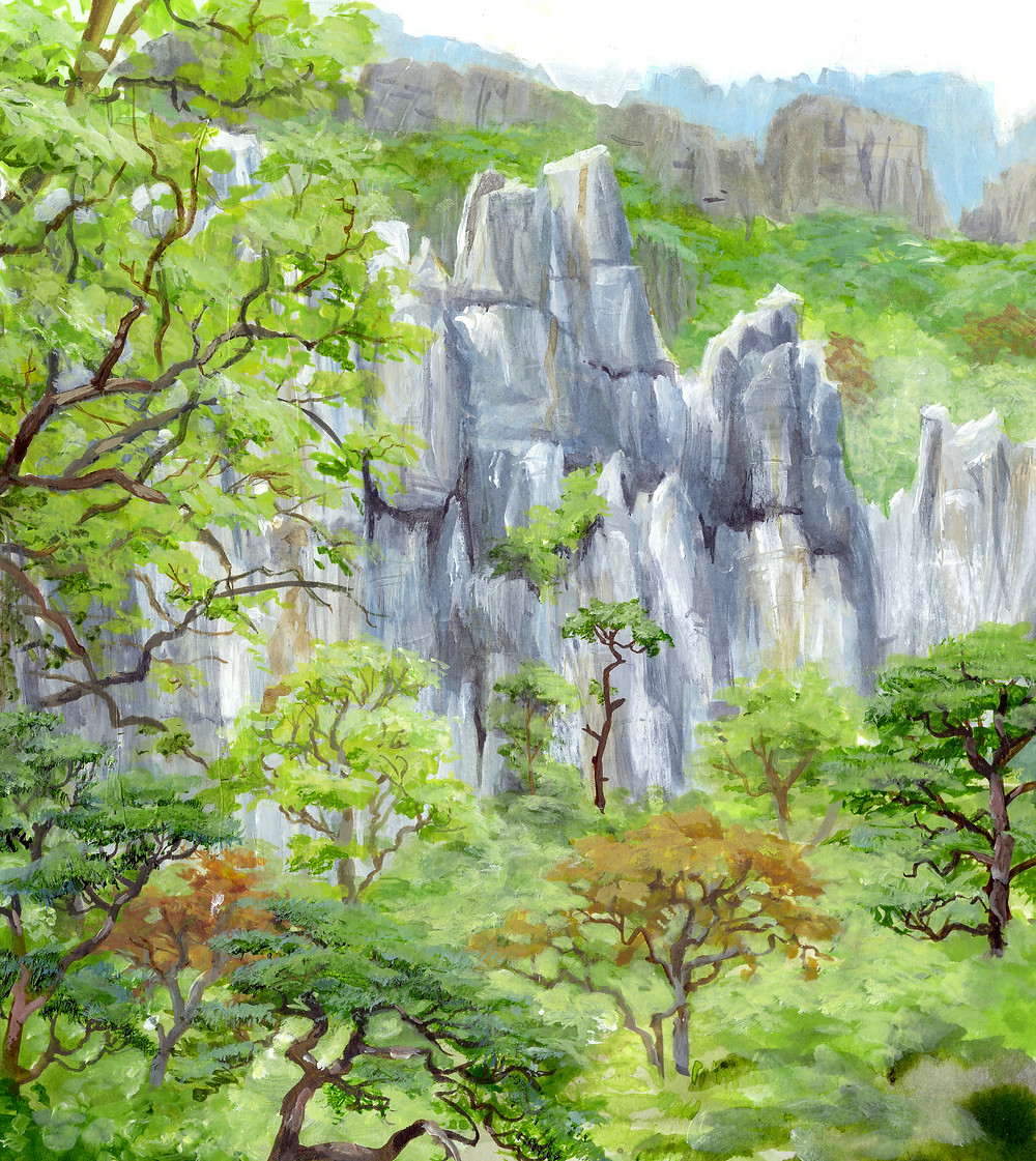 Karst outcrop in the Annamite Mountains