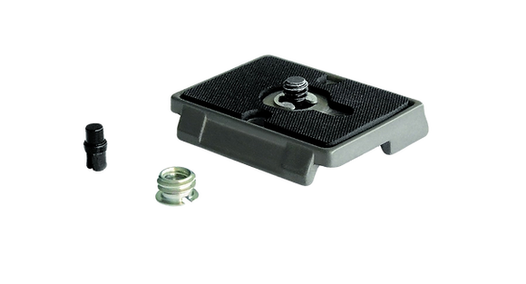 """Manfrotto Quick Release Plate with 1/4"""""""" Screw and Rubber Grip"""