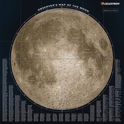 Celestron Observers map of the Moon 93704