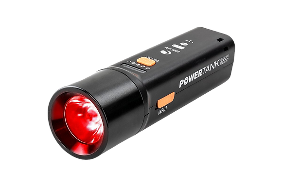 Celestron Powertank Glow5000 Rechargeable Red Flashlight and Power Bank