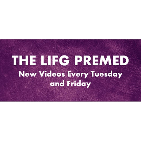 The LIFG Premed YouTube Channel Banner