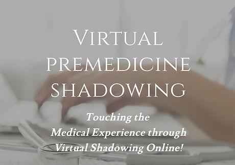 Virtual Premedicine Shadowing Website