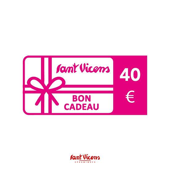 Bon cadeau 40 €