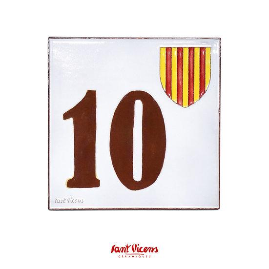 Numéro de rue blason catalan