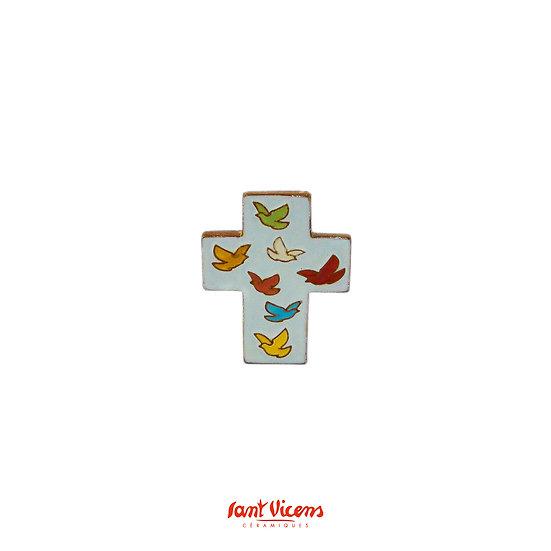 """Croix """"vol de colombes"""" - multi couleur"""