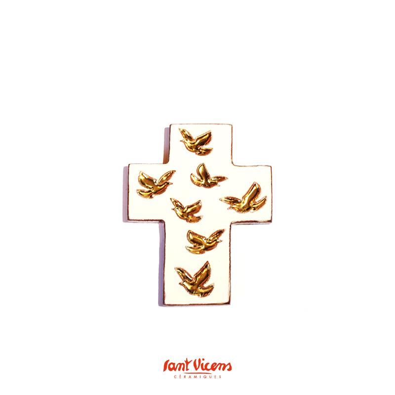 croix vol de colombes ivoire