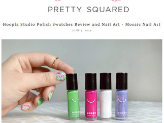 Hoopla Studio Polish Swatches Review and Nail Art - Mosaic Nail Art