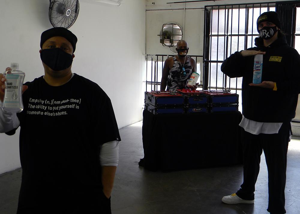 "Kasland, DJ Vicious Lee, and Arif S. Kinchen on the ""Nostalgia"" music video set."