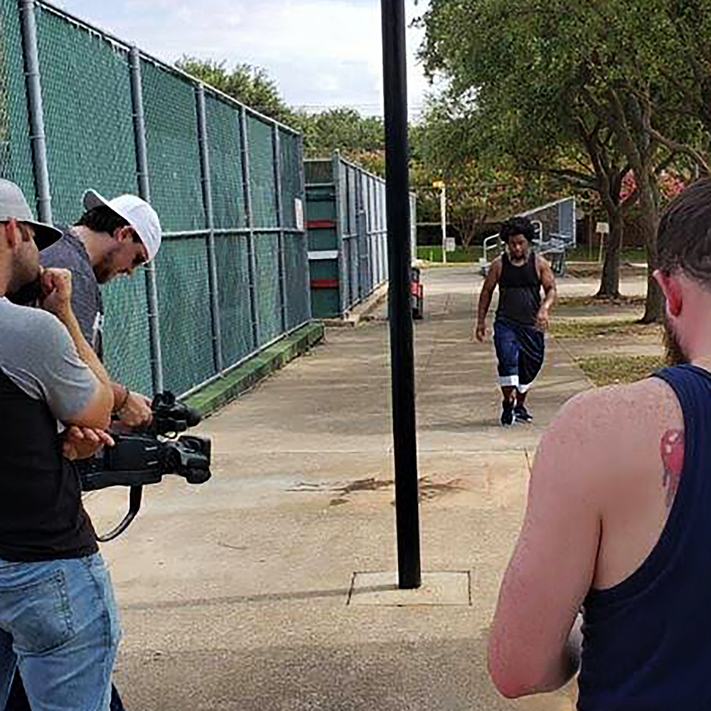 """Ja'Darrius Mitchell on set of Kasland's """"Walk With Me"""" music video."""